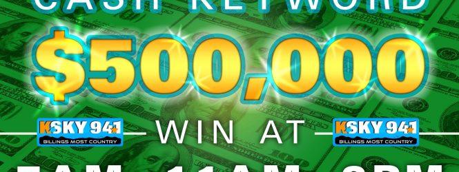 $500,000 Cash Keyword